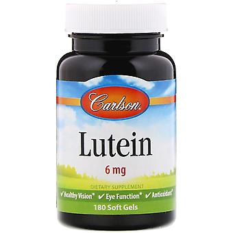 Carlson Labs, Lutein, 6 mg, 180 Soft Gels