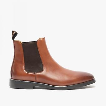 Steptronic Mayfair Mens Leather Wide Fit Chelsea Boots Cognac