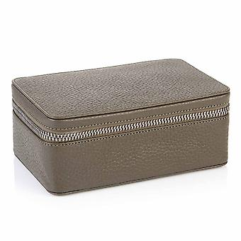 Olive Green Richmond Leather Large Trinket Box