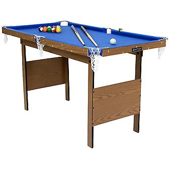 Charles Bentley Junior 4ft American Pool Table With Pool Balls And 2 Cues