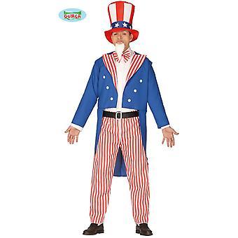 Traje de América de los hombres de traje de tío Sam de Estados Unidos de América