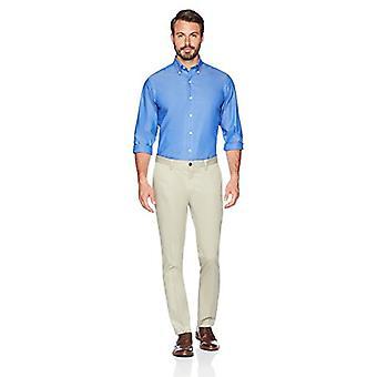 BUTTONED DOWN Men's Slim Fit Stretch Non-Iron Dress Chino Pant, Khaki, 32W x ...