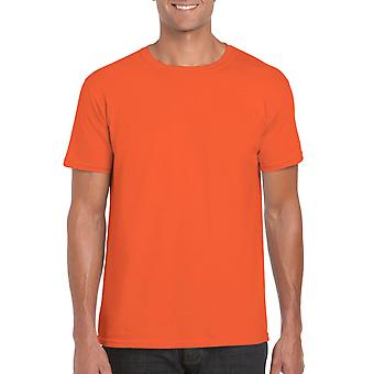 GILDAN G64000 Softstyle Men's T-shirt in Oranje