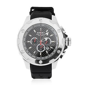 KYBOE Alpha - Acier Noir 48MM LED Mens Watch- 100M Résistance à l'eau
