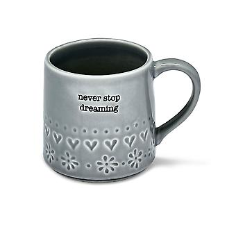 Cooksmart Purity Mug, Never Stop Dreaming
