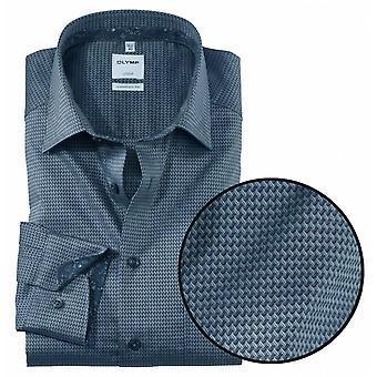OLYMP Olymp Patterned Formal Long Sleeve Shirt