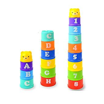 Mini Bear Stack Cup Plidind Stack Tower Jouets éducatifs pour 6month+ Early