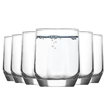 LAV Diamond Glass Water Tuimelaars - 215ml - Pack van 6