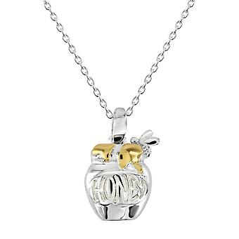 Dew Sterling Silver Honey Pot Gold Plated Pendant 9468GD028