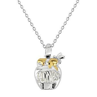 ندى الاسترليني الفضة العسل وعاء الذهب قلادة مطلي 9468GD028