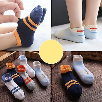 Spring Summer Children's Strumpor Mesh Cotton Boy Randig Solid Girls Kids Sport
