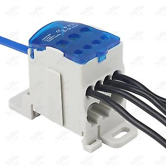 Ukk80a Terminal Block 1-in Many Out Rail Distribution Box Universal Electric Wire Connector Power Junction Box
