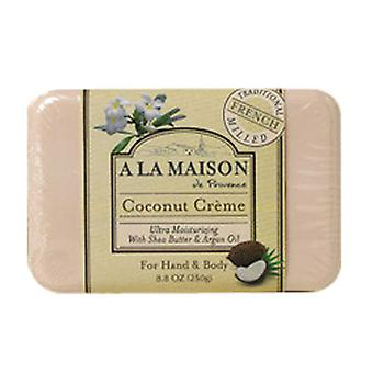 A La Maison Bar Soap, Coconut Creme, 8.8 oz