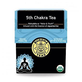 Buddha Teas Organic 5th Chakra Tea, Throat 18 Bags
