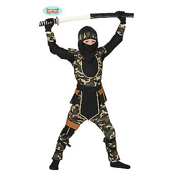 Traje Camuflar Ninja Sazuke Camuflar Terno Camuflagem Carnaval Infantil Carnival Warrior Carnival