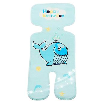 Waterproof Cartoon Print Baby Stroller Mat, Newborn Summer Ice Silk Cushion