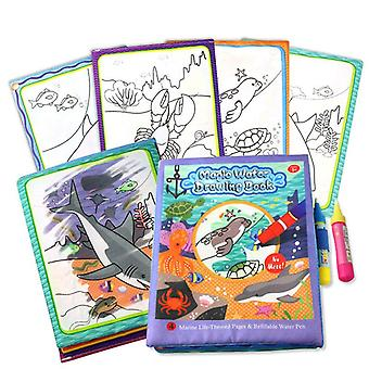 Magic Water Drawing Books Coloriage Réutilisable Early Learning Toys Éducatif
