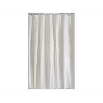 Home Label Plain Shower Curtain Cream 95584