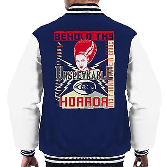The Bride Of Frankenstein Behold The Unspeakable Horror Men's Varsity Jacket