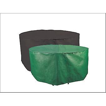 Bosmere Reversible Circular Patio Cover 4-6 Seater Green & Black P320