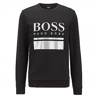 Boss Green Hugo Boss Salbo 1 Zip Up Sweatshirt Black 50434921