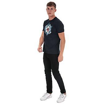 Men's Ben Sherman Target Chevron T-Shirt in Blue