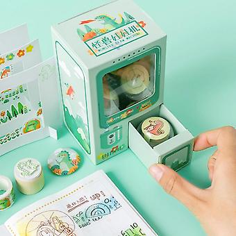 Rocking Box Gashapon Milk Tea Machine Series Paper Decorative Tape