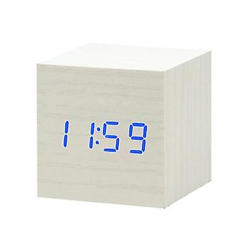 Led Wooden - Table Decor Voice Control, Usb/aaa Powered Alarm Clock
