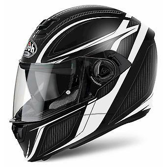 Airoh Storm Full Face Motorradhelm Schwarz ACU zugelassen mit Sonnenblende