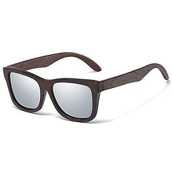 Přírodní bambusové dřevěné sluneční brýle, ručně vyráběné, polarizované zrcadlové čočky,