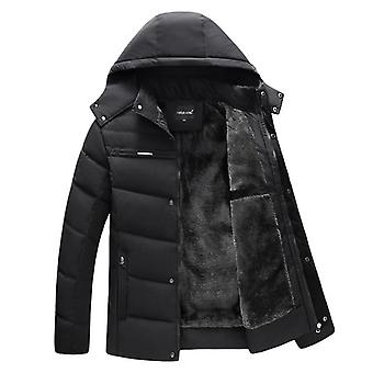 Winter Jacket Men Thicken Hooded Waterproof Outwear Warm Coat Fathers' Clothing