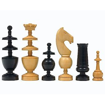 French Regency Period Chess Pieces Ebonised