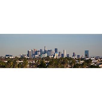 Sentrum av Los Angeles City of Los Angeles California USA plakatutskrift