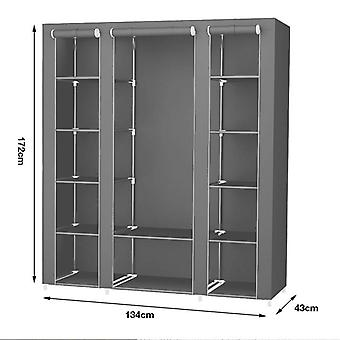 Ikke vevd skap - Fold bærbare oppbevaringsmøbler Anti Støv skap