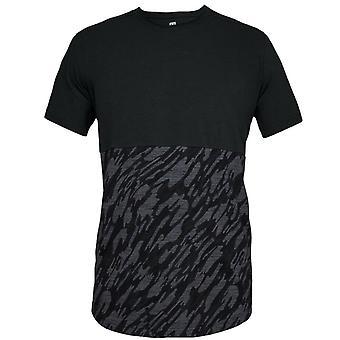 תחת שריון Mens ספורטטייל קמו בלוק חולצת טריקו מזדמנים למעלה שחור 1322835 001