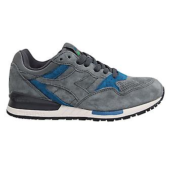 Diadora Intrepid Premium Mens Trainers Grey Leather Low Lace Up Shoes C6990