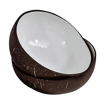 White Lacquered Coconut Bowl 1 unit