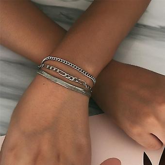 Geometric Crystal Multi Layer Bracelets/bangles