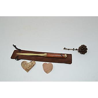 Trä brevöppnare brevöppnare stilett pine pinus cembra handgjorda