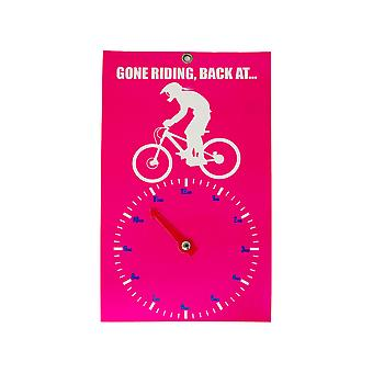 Gone Riding Clock Face - Lady Downhill
