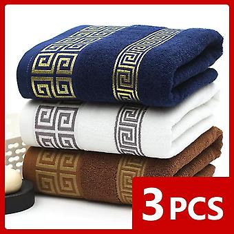 High Quality Luxury Soft Embroidered Beach Towels Bathroom Strongly Water