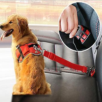 Adjustable Dog Cat Car Safety Belt Pet Vehicle Seat Harness Dog Lead Clip