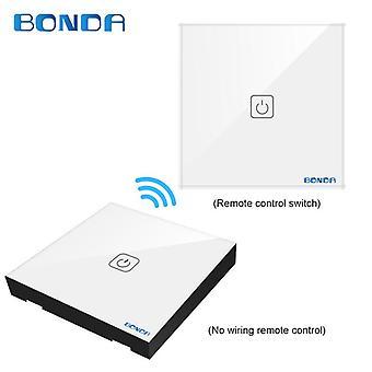 BONDA WIFI 433RF Kaukosäädin Kosketuskytkin 1Way 2Way 3Way Seinäkosketusanturin valokytkin Crystal G