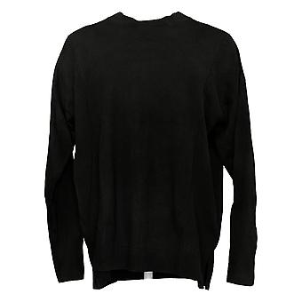 Isaac Mizrahi Live! Women's Sweater Crew Neck Black