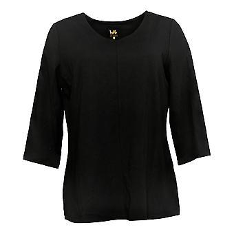 Belle van Kim Gravel Women's Top Knit V-Neck Top Black A301543