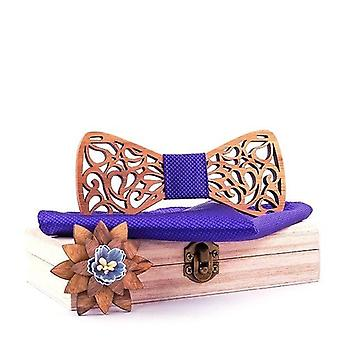 Floral Wood Bow Ties