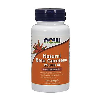 Natural Beta-Carotene Dunaliella Salina 25000 IU 90 softgels of 25000UI