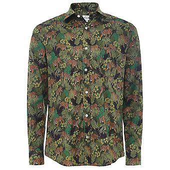 Hartford Slim Fit Tiger Print Paul Shirt