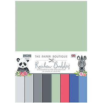 The Paper Boutique - Rainbow Buddies Collection - A4 Colour Card Collection