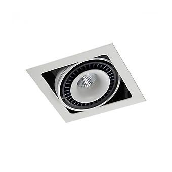 Lámpara Empotrable De Techo Técnica Y Moderna Alesso Blanco Mate, Negro